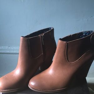 Lucky Brand Ankle Boots, worn once.